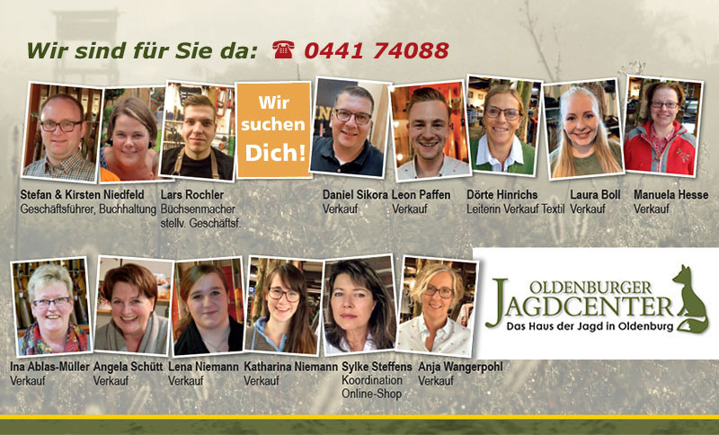 Ihr Team vom Oldenburger Jagdcenter