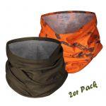 Seeland Schlauchschal 2er Pack grün+ orange camo