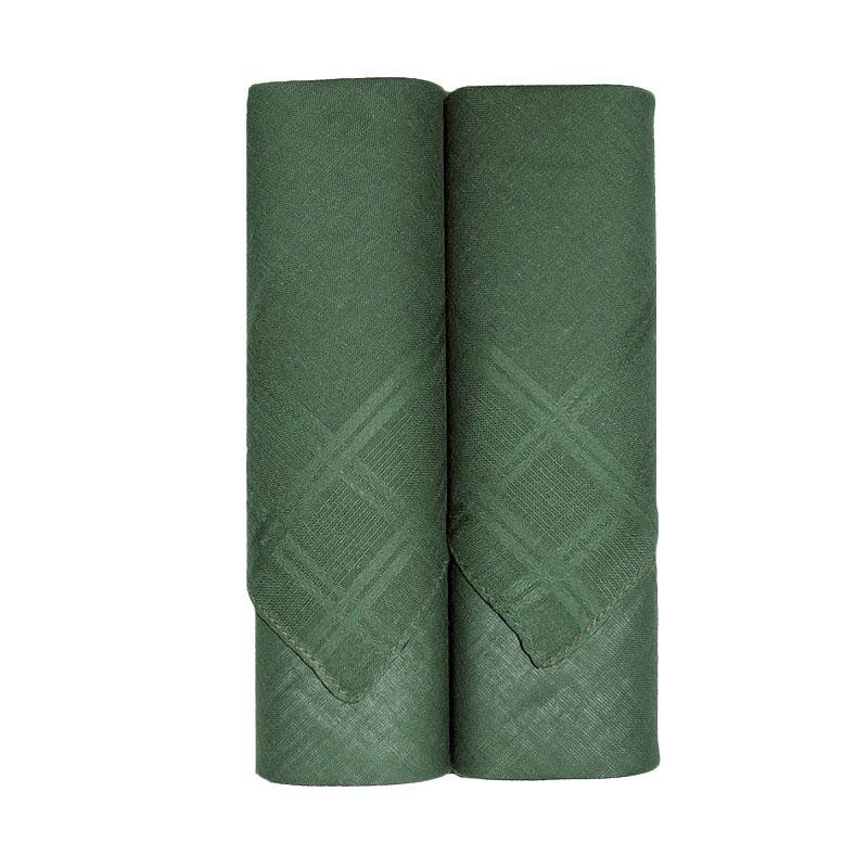 Taschentücher 2 x uni grün