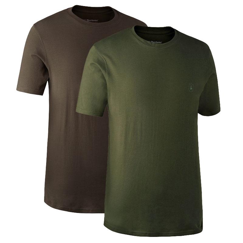 Deerhunter T-Shirt 2er Packgrün + braun