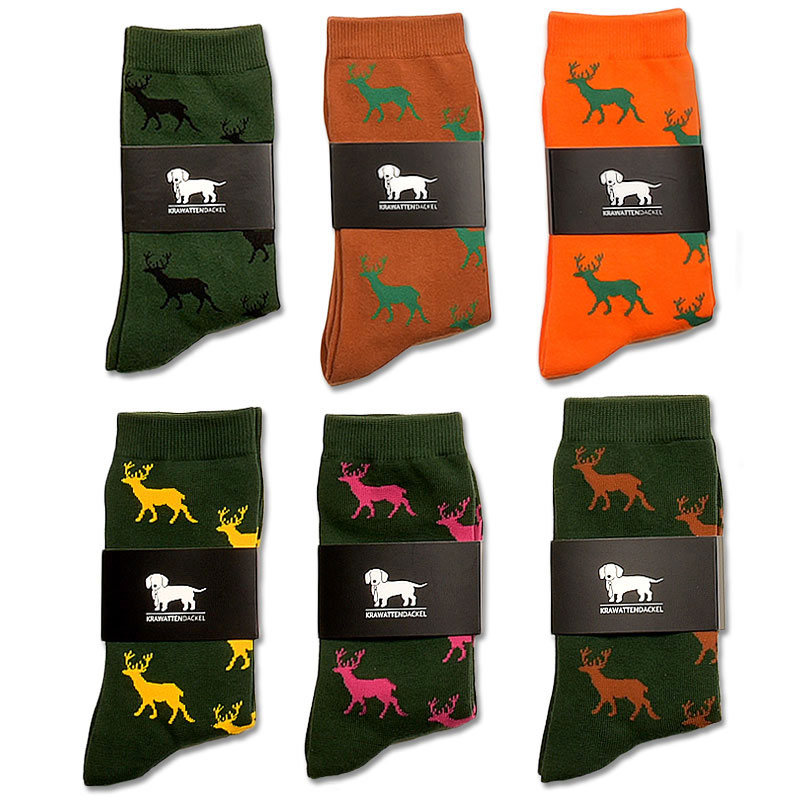 Krawattendackel Hirschsocken in vielen Farben