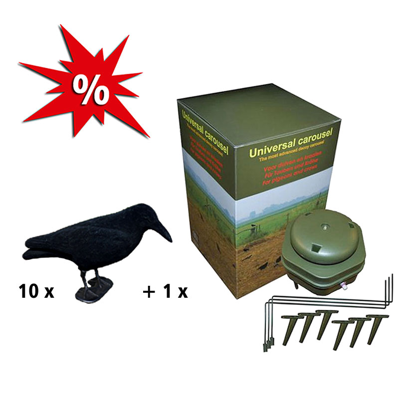 10 Lockkrähen + Magnet für Krähen oder Tauben