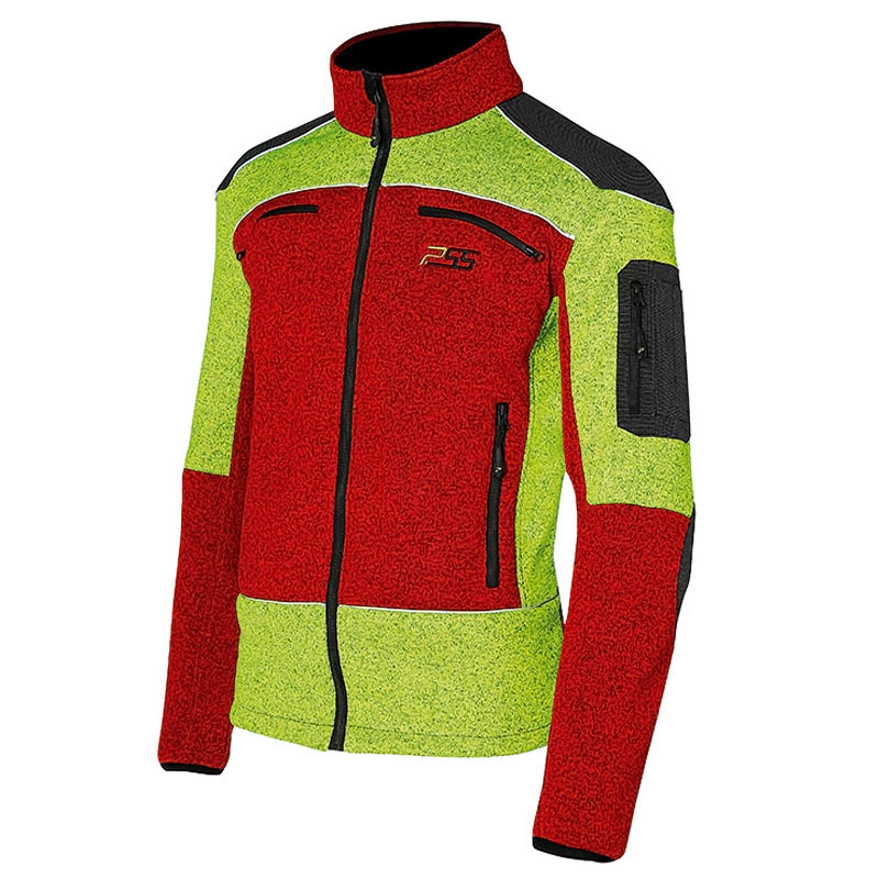 PSS X-treme Arctic Faserpelz Jacke rot/gelb